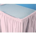 Light Pink Plastic Table Skirt