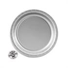 Silver Paper Dessert Plates (24)