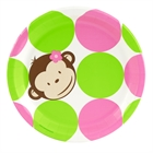 Pink Mod Monkey Dinner Plates (8)
