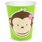 Pink Mod Monkey Paper Cups (8)