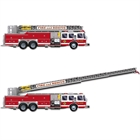 Fire Truck with Jointed Ladder Cutout