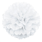 White Hanging Puff Ball