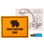 Construction Pals Activity Placemat Kit for 4