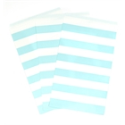 Pastel Blue Striped Paper Treat Bags (15)