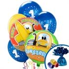 Construction Pals 1st Birthday Balloon Bouquet