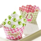 Pink Cowgirl Reversible Cupcake Wrappers