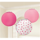Pink Paper Lanterns Assorted