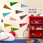 Baseball Time Giant Wall Decals