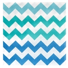 Chevron Blue Lunch Napkins (20)