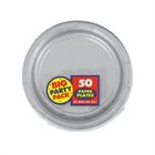 Silver Paper Dessert Plates (50)