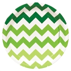 Chevron Green Dinner Plates (8)