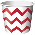 Red Chevron Stripe Treat Cups (6)