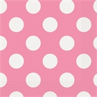 Pink and White Dots Lunch Napkins (16)