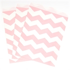Classic Pink Chevron Paper Treat Bags (10)