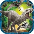 Jurassic World Square Dinner Plates (8)