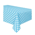 Pastel Blue and White Dot Tablecover