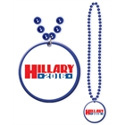 Hillary Clinton Beads with Medallion