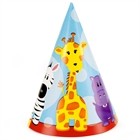 Safari Friends 1st Cone Hats (8)