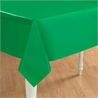 Green Plastic Tablecover