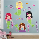 Mermaids Giant Wall Decals