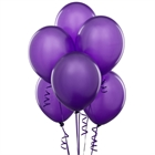 Purple Latex Balloons (6)