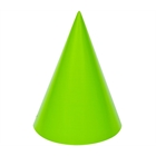 Lime Green Cone Party Hats (8)