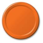 Orange Paper Dinner Plates (24)