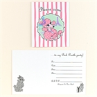 Pink Poodle in Paris Invitations (8)