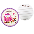 Owl Blossom Thank-You Notes (8)
