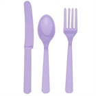 Lavender Forks, Knives and Spoons (8 each)