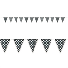 Black and White Dots Flag Banner