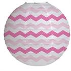 Candy Pink Chevron Round Paper Lantern