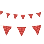 Red with Polka Dots Paper Flag Banner