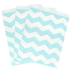 Pastel Blue Chevron Paper Treat Bags (10)