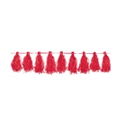 Red Paper Tassel Garland