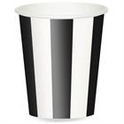 Black Stripe 12 oz. Paper Cups