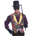 Mardi Gras Vest and Bow Tie Accessory Kit (Adult)