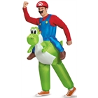 Super Mario Bros: Mario Riding Yoshi Inflatable Adult Costume