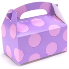Lavender with Pink Dots Empty Favor Boxes (4)