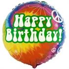 Hippie Tie Dye Foil Balloon
