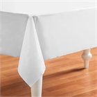White Plastic Tablecover