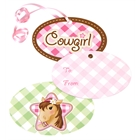 Pink Cowgirl Gift Tags (8)