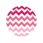 Chevron Pink Dessert Plates (8)