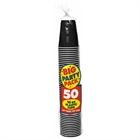 Black Big Plastic Cups (50)
