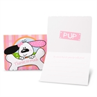 Playful Puppy Pink Thank-You Notes (8)