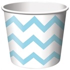 Chevron Stripe Treat Cups - Pastel Blue (6)
