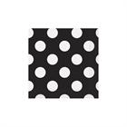 Black and White Dots Beverage Napkins (16)