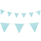 Light Blue with Polka Dots Paper Flag Banner