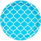 Bermuda Blue Quatrefoil Dinner Plates (8)