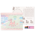 Pink Poodle in Paris Activity Placemat Set (4)